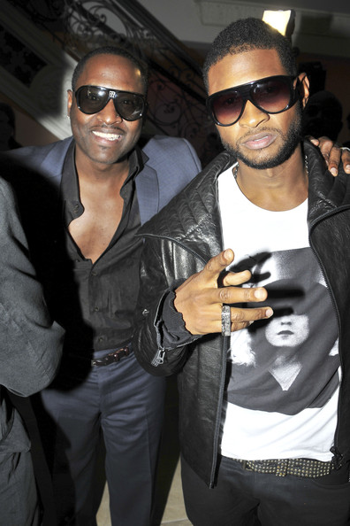 Johnta Austin and Jermaine Dupri at Jermaine's VMA Kickoff Party in Beverly Hills