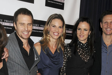 Hilary Swank Sam Rockwell Premiere of 'Conviction' in New York