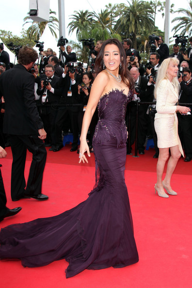 "Gong Li at the premiere screening of ""Midnight in Paris"" on the opening night of the  64th Annual Cannes Film Festival."