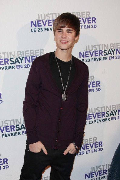 "Justin Bieber Justin Bieber arriving at the French premiere of his movie of ""Never Say Never"" held at Grand Rex Theater."