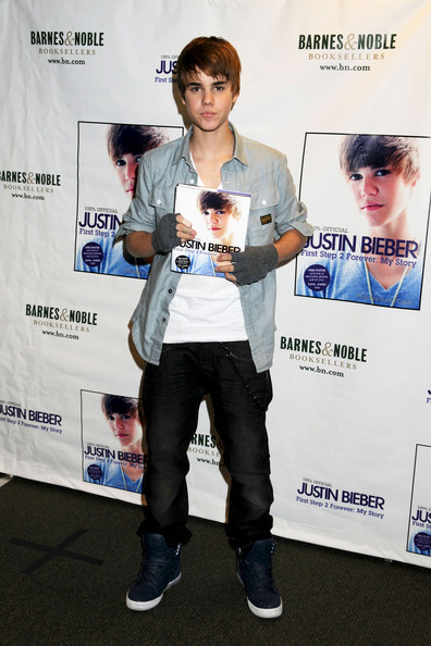 "Justin Bieber November 26, 2010. Justin Bieber promotes his new book, ""Justin Bieber: First Step 2 Forever: My Story"" at Barnes & Noble, 5th Avenue."