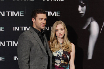 Justin Timberlake Amanda Seyfried Justin Timberlake and Amanda Seyfried Promote 'In Time'