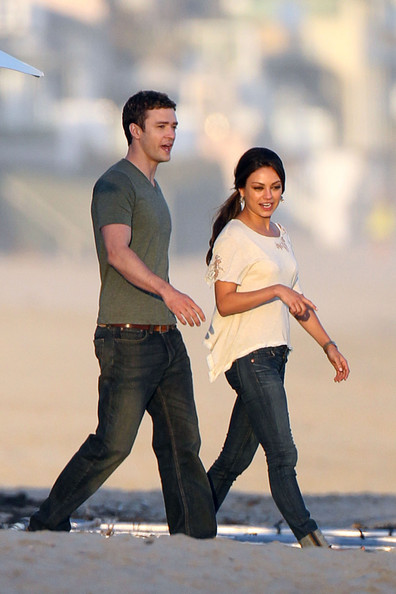 """Justin Timberlake Justin Timberlake and Mila Kunis seem to be enjoying each other's company on the set of """"Friends with Benefits"""" in Malibu, CA."""