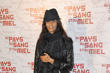 Karine Silla Celebs at the Paris Premiere of 'In The Land Of Blood And Honey'