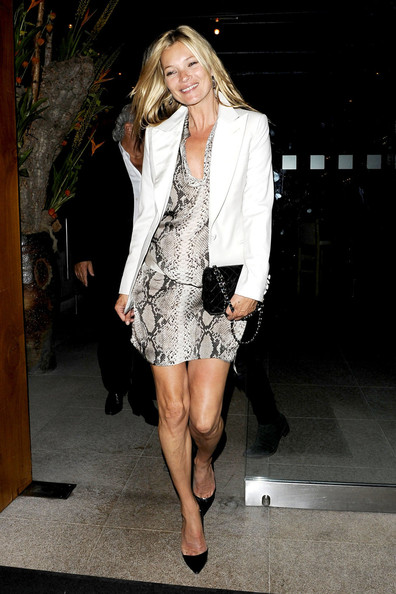Kate Moss The happy couple Kate Moss and Jamie Hince go to dinner at Zuma restaurant in London with Topshop owner Philip Green. The newlyweds seemed in good spirits as they left the restaurant and headed to the Dorchester before going home.