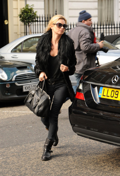 c3249895804f Supermodel Kate Moss outside a Harley Street Clinic in Central London