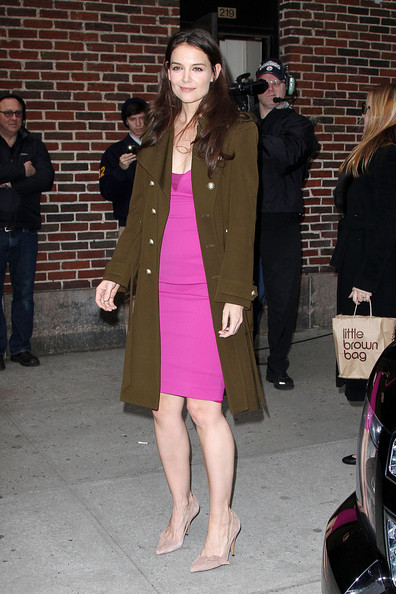 Katie Holmes - Katie Holmes stops in at the 'Late Show With David Letterman' in New York Cityerly Hills