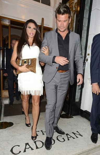 Katie Price and Gary Cockerill at the Cadogan Hotel