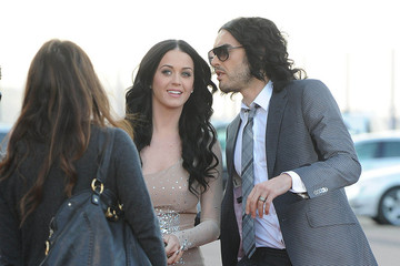 Katy Perry Russell Brand and Katy Perry at the O2 Arena, London