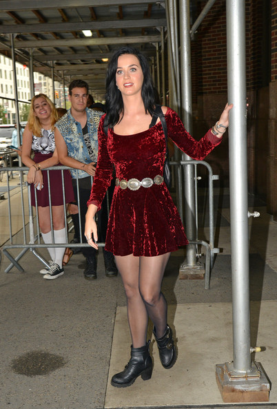 Katy Perry promotes her album in New York City on August 12, 2013.