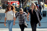 """Kelly Bensimon has lunch with her daughter Sea Louise in Greenwich Village. The former """"Real Housewives of New York"""" could later be seen buying her daughter some ice cream and kissing her as they strolled."""