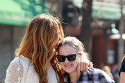 Kelly Bensimon has lunch with her daughter Sea Louise in Greenwich Village. The former 'Real Housewives of New York' could later be seen buying her daughter some ice cream and kissing her as they strolled.