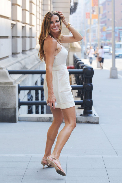 """Kelly Bensimon, or """"Real Housewives of New York City,"""" struck a few poses for the camera as she was spotted walking in Greenwich Village."""
