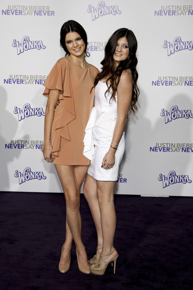 "Kendall Jenner Kendall and Kylie Jenner at the Los Angeles premiere of ""Justin Bieber: Never Say Never"" held at the Nokia Theatre L.A. Live, Los Angeles."