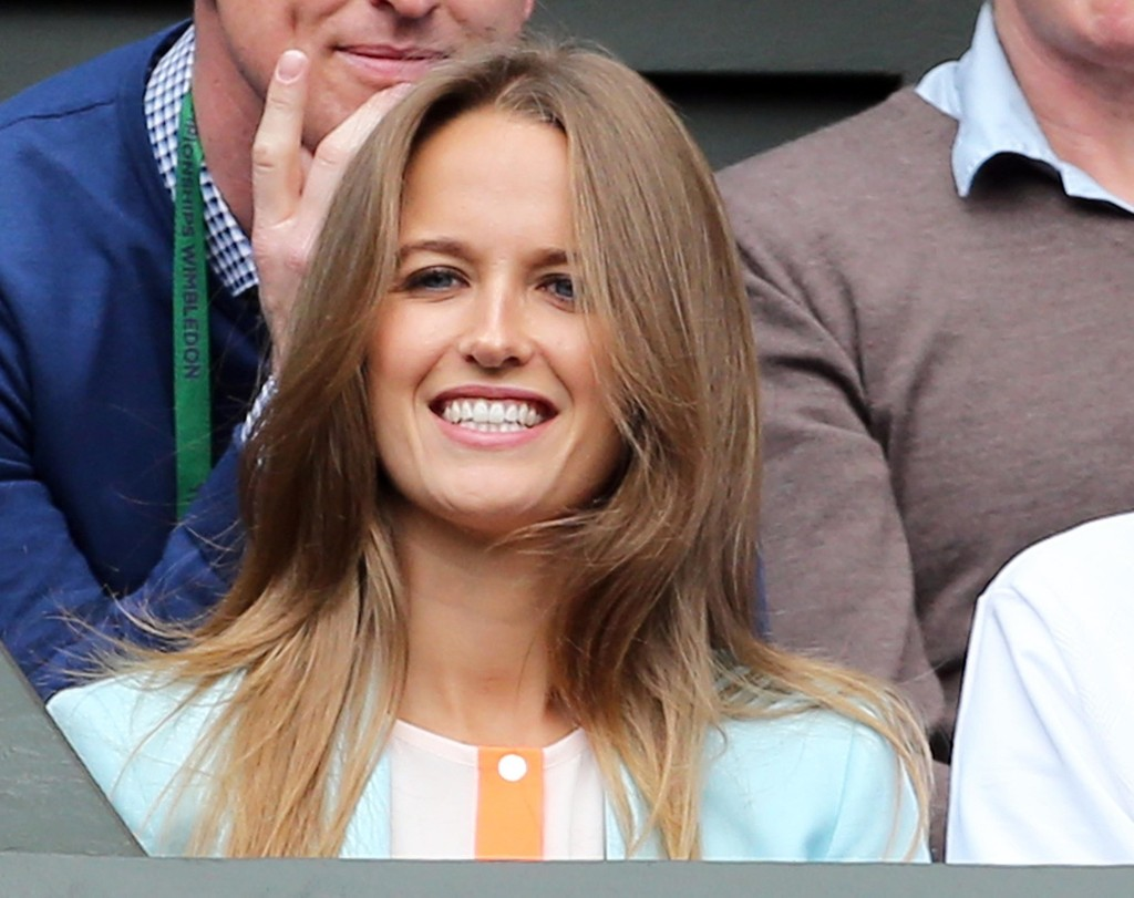 Pictures of Andy Murrays girlfriend KIM SEARS taken at Wimbledon.