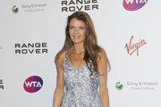 Annabel Croft attending the WTA pre-Wimbledon party in association with Range Rover at the Kensington roof garden in London.