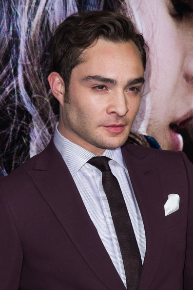 Ed Westwick attends 'Romeo And Juliet' premiere at ArcLight Hollywood.