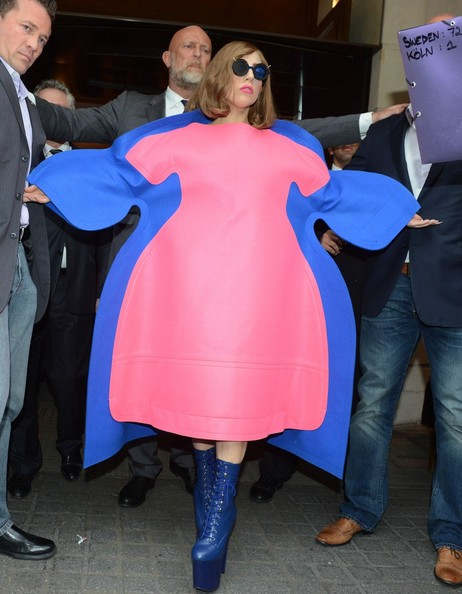 Lady Gaga Wears a Very Large Dress in Paris