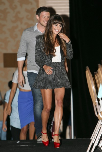 Lea Michele and Cory Monteith - 'Glee' Stars Leave Their Comic-Con