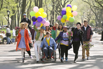 Chris Colfer Cory Monteith 'Glee' Stars in Central Park 2