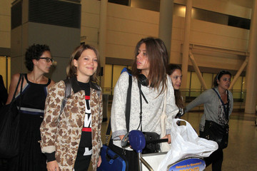 Lea Seydoux Adele Exarchopoulos Lea Seydoux and Adele Exarchopoulos Arrive in Toronto