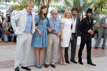 Woody Allen Michael Sheen Celebs at the Photocall for 'Midnight in Paris'