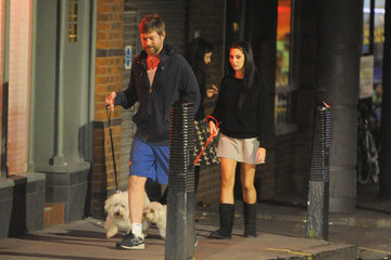 Lee Stafford Jessica-Jane Clement and Her Husband Walk Their Dogs