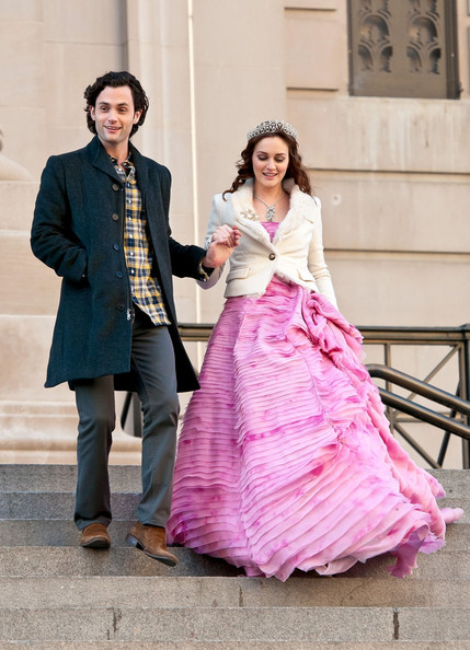 Leighton Meester - Leighton Meester and Penn Badgley Film 'Gossip Girl' 3