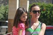 Leighton Meester gives her niece a lift following a lunch date with some of her family in Los Angeles.