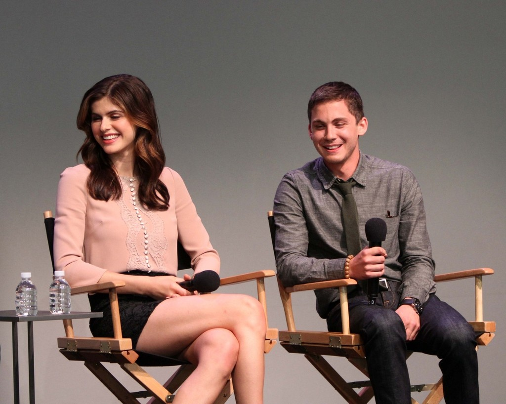 alexandra daddario photos photos logan lerman and