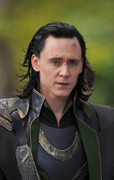 "Loki Tom Hiddleston walks to set of ""The Avengers"" filming in Central Park, NYC."