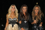 "Frankie Essex, Lauren Goodger and Georgina Dorsett leaving ""The Only Way Is Essex"" wrap party held at the Roof Gardens in Kensington London."