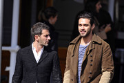 Marc Jacobs and Lorenzo Martone are seen enjoying some coffee together at Pastis cafe in New York City. The pair, who were formerly engaged and then split, could be seen sharing a laugh together.