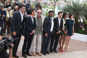 Clive Owen, Billy Crudup, James Caan, Alain Attal, Guillaume Canet, Zoe Saldana and Marion Cotillard attending the photo call for 'Blood Ties' during the 66th Annual Cannes Film Festival at the Palais des Festivals in Cannes.