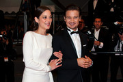 Marion Cotillard and Jeremy Renner leaving 'the Immigrant' screening held at the Palais Des Festivals as part of the 66th Cannes Film Festival.