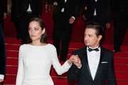Jeremy Renner and Marion Cotillard leaving 'the Immigrant' screening held at the Palais Des Festivals as part of the 66th Cannes Film Festival.