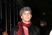 """Mark Ballas is in high spirits as he leaves Ivan Kane's Cafe after a night out with the """"Dancing with the Stars"""" gang."""