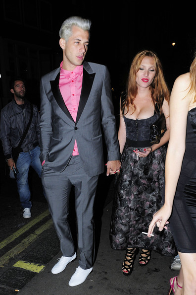 Josephine de La Baume and Mark Ronson - Celebrities at Groucho Club