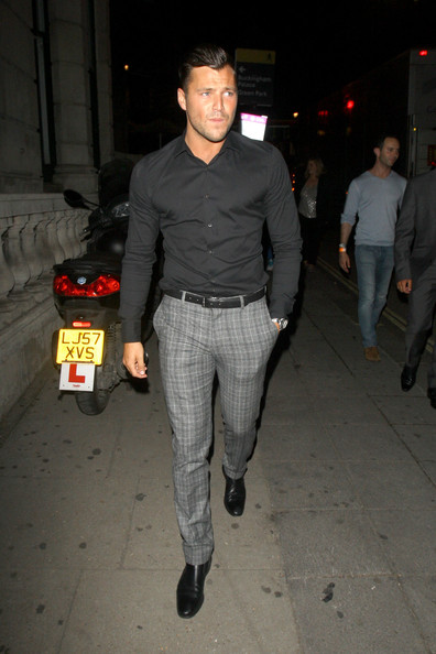 British actor and TV personality Mark Wright is seen leaving Arua night club in London