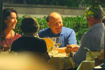 Massimo Boldi Beppe Grillo Grabs Dinner with a Friend