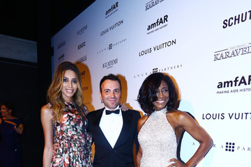 Matheus Mazzafera Alinne Moraes at the amfAR Inspiration Gala against AIDS in Sao Paulo, Brazil