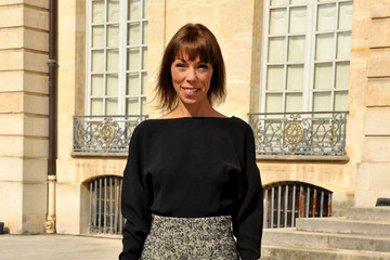 Mathilde Agostinelli PFW: Arrivals at Christian Dior