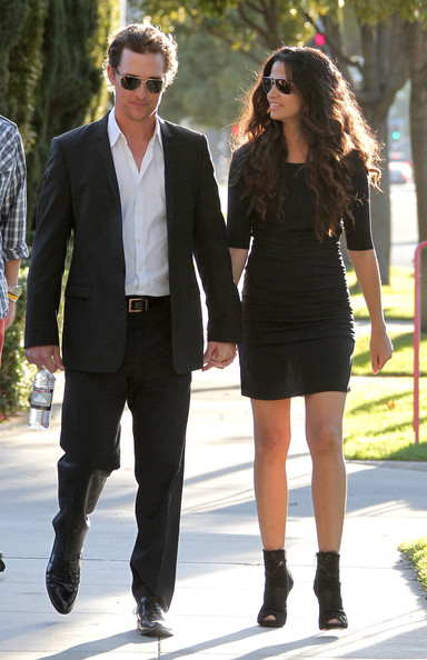 Matthew McConaughey and Camila Alves on Set