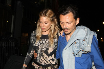 Matthew Williams Sienna Miller and Matthew Williams Out Late in London