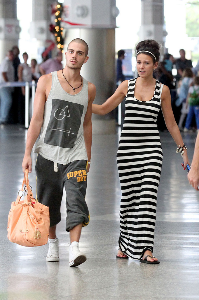 Max George And Michelle Keegan At The Airport