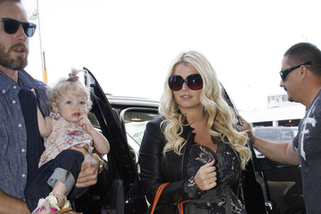 Maxwell Johnson Jessica Simpson Leaves LA WIth Her Family