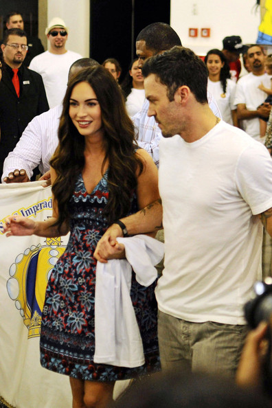 Megan Fox - Megan Fox and Brian Austin Green in Brazil