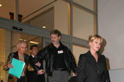 """Melanie Griffith accompanies mom Tippi Hedren (rear) to the CNN Building in Los Angeles. Hedren, most famous for appearing in Alfred Hitchcock's classic thriller """"The Birds"""", had just appeared on """"Larry King Live""""."""