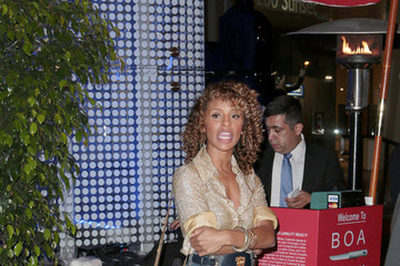 Melody Thornton Melody Thornton Out to Dinner in Hollywood