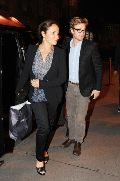 ... in this photo simon baker simon baker and wife have dinner at the